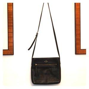 kate spade small Black Leather Crossbody Bag